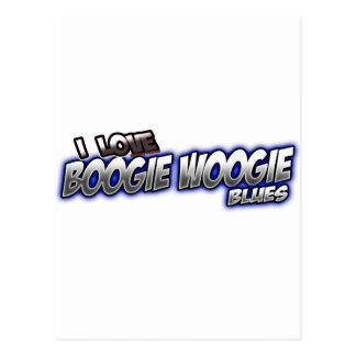 Carte Postale J'aime la musique de BLEUS de Woogie de boogie
