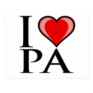 Carte Postale J'aime la PA - Pennsylvanie