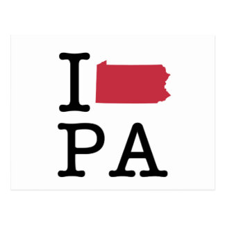 Carte Postale J'aime la Pennsylvanie