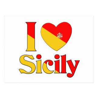 Carte Postale J'aime la Sicile