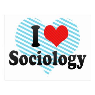 Carte Postale J'aime la sociologie