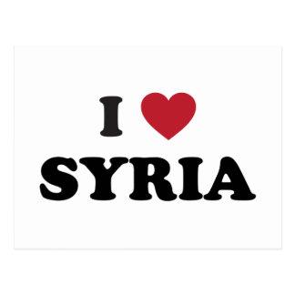 Carte Postale J'aime la Syrie