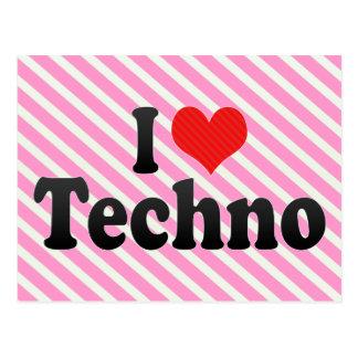 Carte Postale J'aime la techno