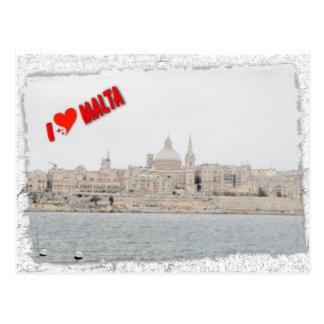 Carte Postale J'aime La Valette