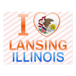 Carte Postale J'aime Lansing, IL