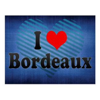 Carte Postale J'aime le Bordeaux, France
