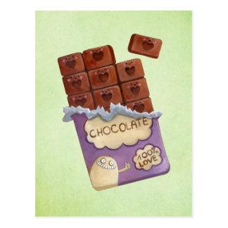 Carte Postale J'aime le chocolat