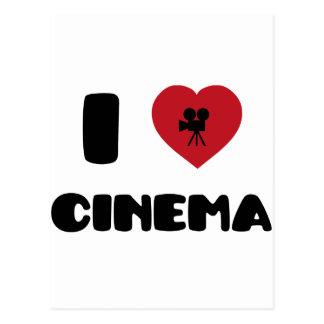Carte Postale J'aime le cinéma