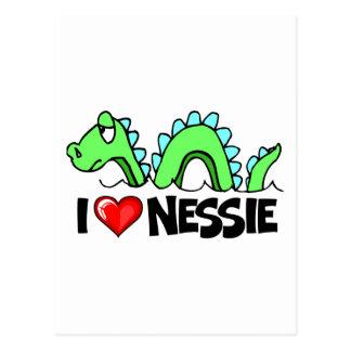 Carte Postale J'aime le Nessie