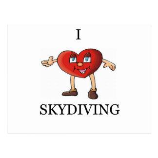 Carte Postale j'aime le parachutisme