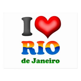 Carte Postale J'aime le Rio de Janeiro, Brésil la ville