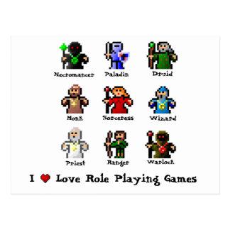 Carte Postale J'aime le rôle jouant des jeux