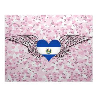 Carte Postale J'aime le Salvador - ailes