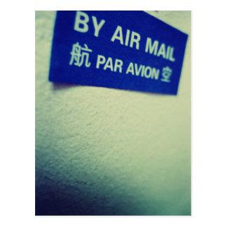 Carte Postale J'aime le snail mail - par poste aérienne