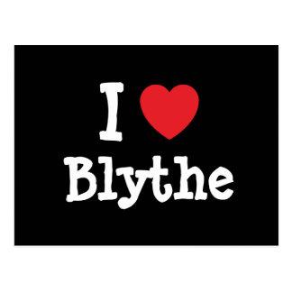 Carte Postale J'aime le T-shirt de coeur de Blythe