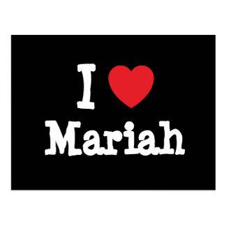 Carte Postale J'aime le T-shirt de coeur de Mariah