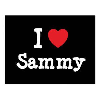 Carte Postale J'aime le T-shirt de coeur de Sammy