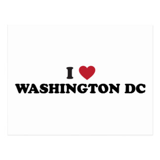 Carte Postale J'aime le Washington DC
