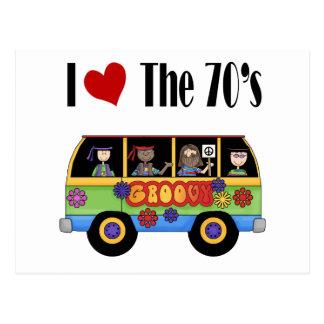 Carte Postale J'aime les années 70