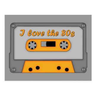 Carte Postale J'aime les années 80 (la cassette)