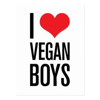 Carte Postale J'aime les garçons végétaliens