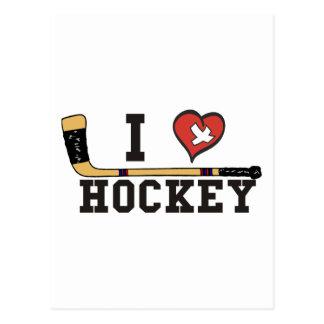 Carte Postale J'aime l'hockey