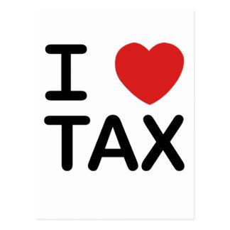 Carte Postale J'aime l'impôt