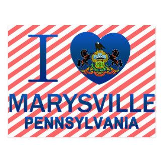 Carte Postale J'aime Marysville, PA