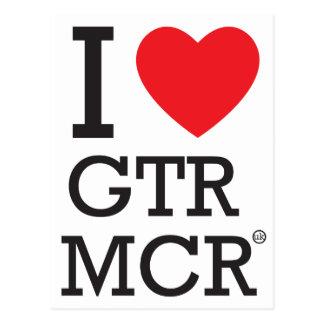 Carte Postale J'aime MCR GTR