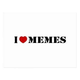 Carte Postale J'aime Memes