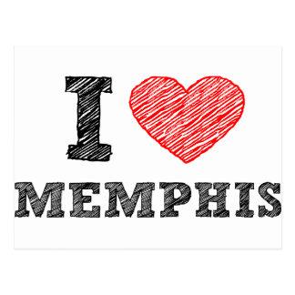 Carte Postale J'aime Memphis