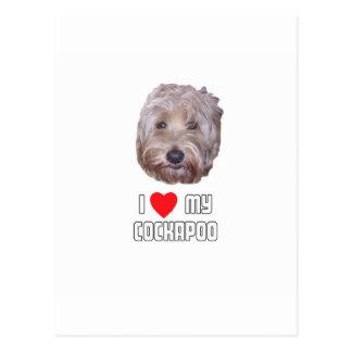 Carte Postale J'aime mon Cockapoo