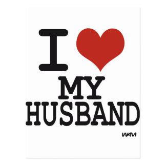 Carte Postale J'aime mon mari