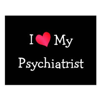 Carte Postale J'aime mon psychiatre