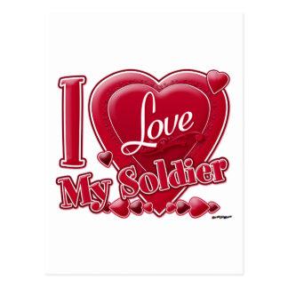 Carte Postale J'aime mon rouge de soldat - coeur