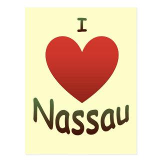 Carte Postale J'aime Nassau