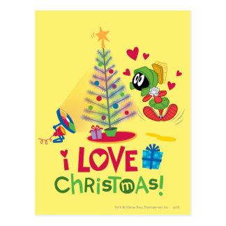 Carte Postale J'aime Noël - MARVIN le MARTIAN™