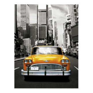 Carte Postale J'aime NYC - taxi de New York
