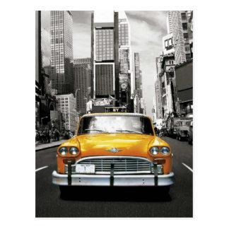 Carte Postale J'aime NYC - taxi de New York