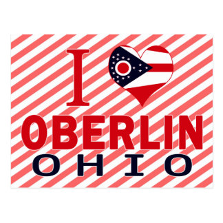 Carte Postale J'aime Oberlin, Ohio