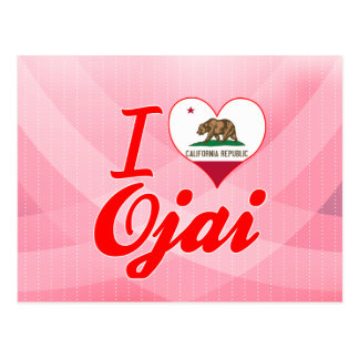 Carte Postale J'aime Ojai, la Californie
