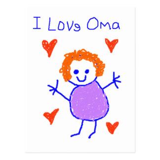 Carte Postale J'aime Oma
