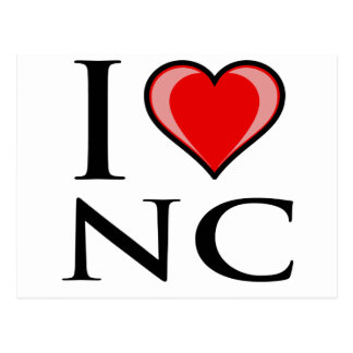 Carte Postale J'aime OR - la Caroline du Nord