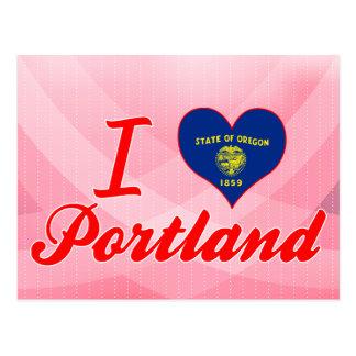 Carte Postale J'aime Portland, Orégon