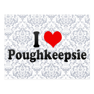 Carte Postale J'aime Poughkeepsie, Etats-Unis