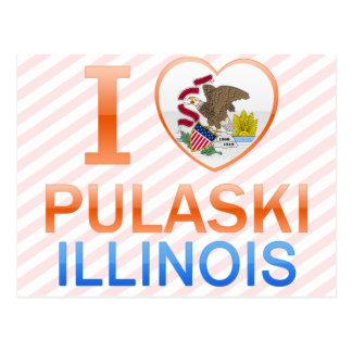 Carte Postale J'aime Pulaski, IL
