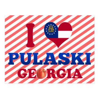Carte Postale J'aime Pulaski, la Géorgie