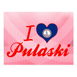 Carte Postale J'aime Pulaski, la Virginie
