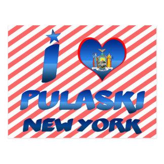Carte Postale J'aime Pulaski, New York
