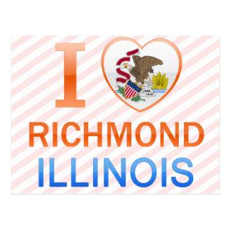 Carte Postale J'aime Richmond, IL